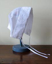 VTG Magic Hanky Embroidered Handkerchief Baby Bonnet Poem Christening Handmade