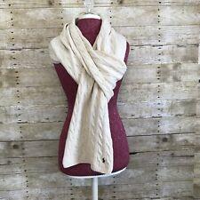 Ralph Lauren 80%wool 20% cashmere cream long Scarf
