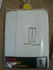 mens long thermal pants - Large - waist 36-38'' 65% poly/35% cotton washable New