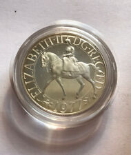 Gb Silver Proof Crown 1977
