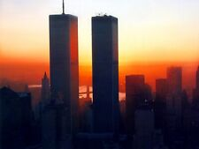 NEW YORK CITY: WTC TWIN TOWERS AT SUNSET 8 X 10 PHOTO- 010