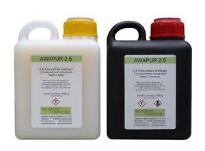 AWAPUR 2.5 Polyurethan 2K-Gießharz  PUR Resin 2 kg (2x 1kg)