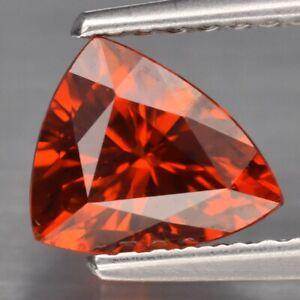 1.37ct 7x5.8mm Trillion Natural Orange Spessartite Garnet, Namibia