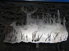 Deer scene wall art decor steel elegant Steel DSCN