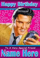 ELVIS Personalised Birthday Card! ANY NAME / AGE / RELATION - GREAT CARD - 5
