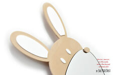 Safety Mirror Bunny Cappuccino with LED light - Wall Decor Mirror - Nursery Kid
