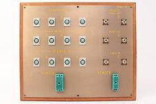Custom Headphone/Video Patch Bay Panel 12x 4-Pin XLRF / 2x ELCO / 6x SO-239 #12