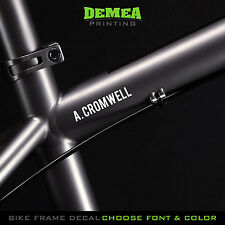 Personalized Name Bike Decals - MTB or Road -  DECAL x2 - Choose Text/Font/Color