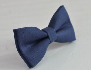 Sapphire Yale Steel Blue Cotton Bow tie Bowtie Men / Teenge / Boy Kids / Baby