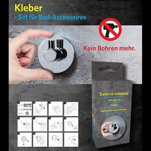 Kleber-Set für Bad-Accessoires- Kleben statt Bohren & Dübeln - Montagekleber