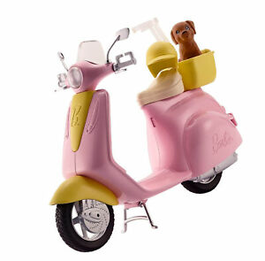 Barbie Moped Motorbike For Doll Pink Scooter Mo-Ped w Puppy Accessories KIDS TOY