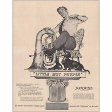 1948 Cluett, Peabody & Co: Little Boy Purple Vintage Print Ad