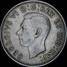1940 XF Canada Silver 50 Cents (Fifty, Half) - KM# 36 - JG