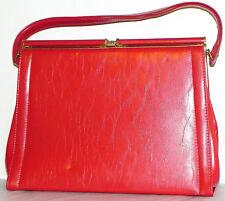 Vtg Designer Hobo Hand bag  Made in Canada  Red Gold Tone Hard Ware 9x12x4
