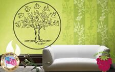 Wall Stickers Vinyl Decal Tree Leaves Birds Nature Home Decor ig884