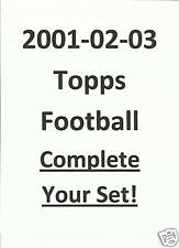 2000 2001 2002 2003 Topps Football COMPLETE YOUR SET stars & RCs! Pick 25! 08/16