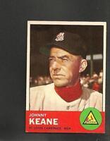 1963 Topps # 166 Johnny Keane Ex-Mt
