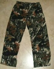 Fleece Fall Leaf Camo Pajama Bottoms Lounge Pants Men's L Large