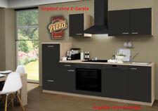 Küchenblock ohne Geräte Einbauküche ohne Elektrogeräte Küche 270 cm schoko-braun