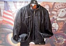 Leather Quilted Jacket Motorcycle Women's Black Queen Of Diamonds 4X Vents HC