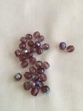 Czech Glass Faceted Beads 6mm AB  Finish X 50'(5)