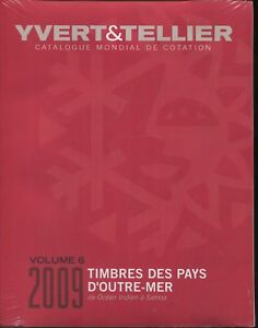 2009 Francese Yvert & Tellier Indiano Oceano A Sud Pacific Stamp Catalog Volume