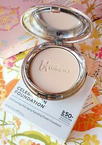 IT Cosmetics CELEBRATION FOUNDATION SPF50+ Anti Aging Full Cov Powder Medium Tan