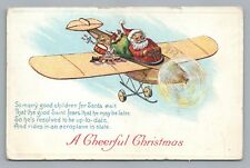 Pilot Santa Claus—Prop Plane Toys—Airplane Train SKI LANDING GEAR Airplane 1919
