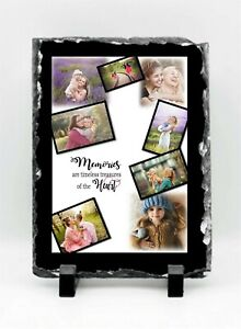 Personalised 8 Photos Collage Memories Gift Slate