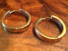 9ct ROSE GOLD-GF- 20mm Greek  Hoop Earrings