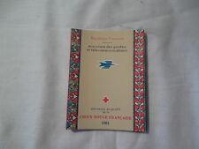 Carnet de timbres Croix rouge française 1961 lire l'annonce
