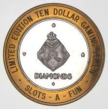 .999 Silver Slots-A-Fun Casino Chip Ltd Ed $10 Token Approx 0.6 Toz Asw *313