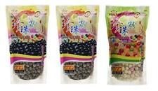 Wufuyuan Tapioca Pearls (2) Black 8.8 oz & (1) Colorful Pack of 3