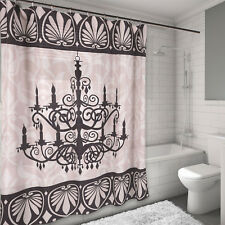 100% Polyester Fabric Shower Curtain Luminere Chandelier Print 70