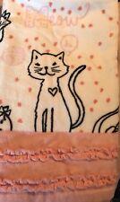 ONE Circo Kitty Cat Hand Bath Towel Cotton Pink White NEw
