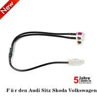 Antennen Adapter FAKRA Doppel Buchse auf Stecker fur Audi Seat Skoda VW RCD RNS