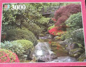 Milton Bradley 3000 Pc Magnum Jigsaw Puzzle JAPANESE GARDEN, PORTLAND OREGON