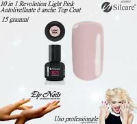 10in1 Revolution Hybrid Gel Light Pink 15g BASE TOP COAT SILCARE UNGHIE nail art