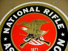Near Mint 1980's Vintage National Rifle Association Old Original Metal Gun Sign