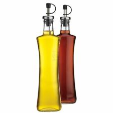 oil vinegar dispenser bottle storage glass home essentials 2pc set