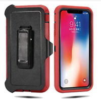 IPhone 11 Pro /IPhone 11 Pro Max Case Anti-Drop Heavy Duty Holster Kickstand RED