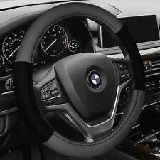Steering Wheel Cover/ Belt Pads Combo Set for Auto Car SUV Van Gray Black