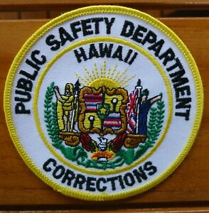 PUBLIC SAFETY DEPARTMENT HAWAII CORRECTIONS Patch