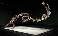 Incorniciato stampa-ASTRATTO OLYMPIC Gymnast sull' MAT (Ginnastica PICTURE BALL ART)