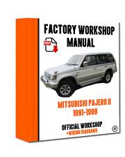 OFFICIAL WORKSHOP Manual Service Repair Mitsubishi Pajero II 1991 - 1999