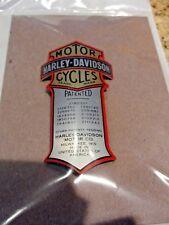 Harley Patented Curved Decal Metal Emblem FXSTS Springer Shock Heritage Springer