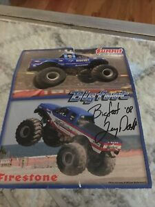 NHRA Photo Card 8.5 X 11 Bigfoot Summit Racing Signed