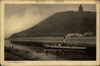 Porta Westfalica AK ~1920/30 Kaiser Wilhelm Denkmal Schiff Dampfer Fluß Weser