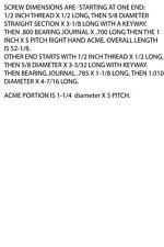BRIDGEPORT LEADSCREW 1-1/4 X 5 PITCH (W2-KTOP)
