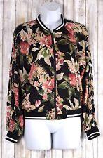 XHILARATION Women's Super Cute Floral Lightweight Full Zip Jacket Size Small